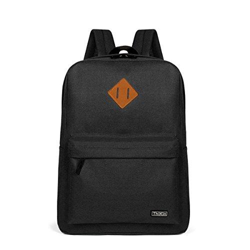 Black Book Bag (ThiKinBlackBookbagBasicBackpackCasualLight School BagFor Boys And Girls)