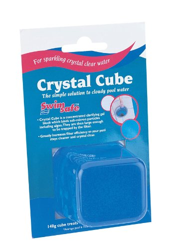(Slow Dissolving 140 Grams Cube Clears Cloudy Pool Water Resulting Sparkling Crystal Clear Water and Aids in the removal of Phosphates)