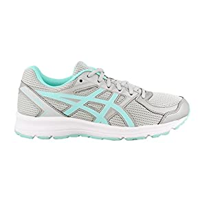 ASICS Women's T7K9N.9667 Jolt Running Shoes, Glacier Grey/Aqua Splash/White, 8.5 (D)
