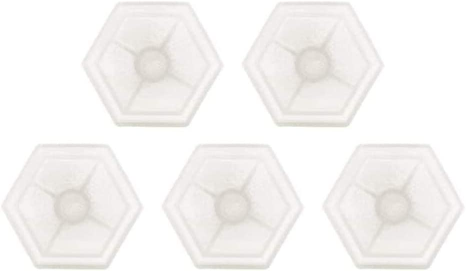 POFET 5pcs Hexagon Clear Silicone Reusable Coaster Mold For DIY Cup Mat Resin Casting Epoxy