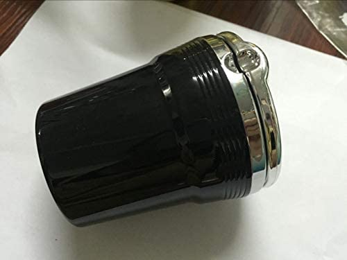 ポータブルで掃除が簡単 LEDは車の灰皿を点灯します 車、オフィス、家、バー、宴会、その他の機会に適しています (Color : Black, Size : 80mm*92mm)