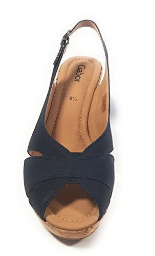 Nubuk Gabor Pour Navy Escarpins Bleu Femme wx6qgYz