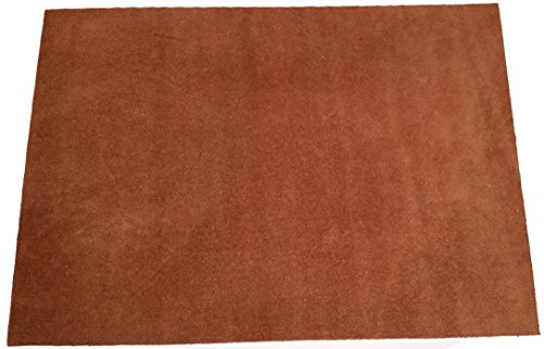"""Premium Quality Suede Sheets 8.5""""x12"""" with Super-Strong self-Adhesive Backing. Ideal for Making Peel-and-Stick (self-Stick, Stick-on) Soles for Dance Shoes, [Suede-DIY-Brown]."""