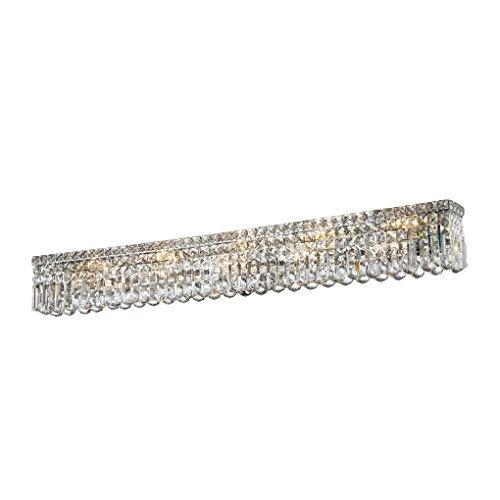 Worldwide Lighting W23533C48 Cascade 10 Light Crystal Vanity Light, Chrome Finish, ADA Compliant, 48
