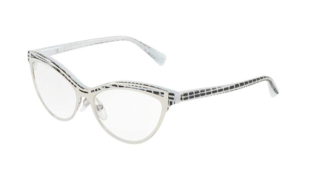 Eyeglasses Alain Mikli A 3072 004 TOP BLACK PONTILLE WHITE SILV