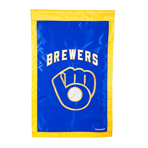 (Ashley Gifts Customizable Applique Regular Flag, Double Sided, Milwaukee Brewers)