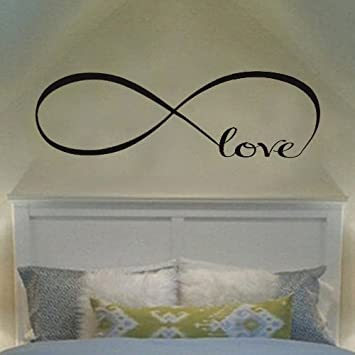 Ecloud Shop® Wandtattoo of Love Personalized Infinity Symbol ...