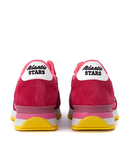 Atlantic Stars Sneaker Vega in Pelle scamosciata e Nylon Rosa Fuxia Pink mjnrhBWN