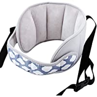 KAKIBLIN Adjustable Child Car Seat Head Support Band- A Comfortable Safe Sleep Solution (Grey)