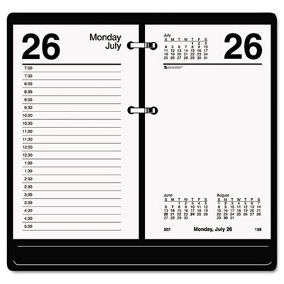(Recycled Desk Calendar Refill, 3 1/2 x 6, White, 2019)
