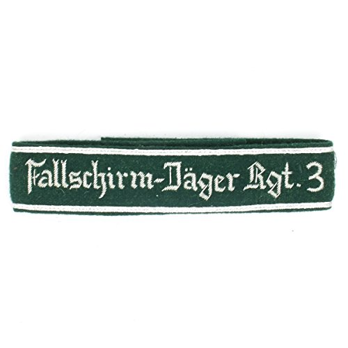German WWII Military Wool Uniform Cuff Title Fallschirm-Jager Rgt. (Wwii Paratrooper Uniform)