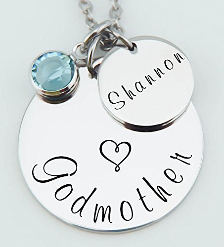 Amazon goddaughter necklace gift for godmother godmother goddaughter necklace gift for godmother godmother pendant stainless steel jewelry aloadofball Gallery