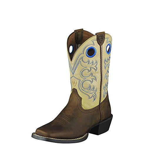 Ariat Crossfire Western Boots Distressed Brown Boys 10005993