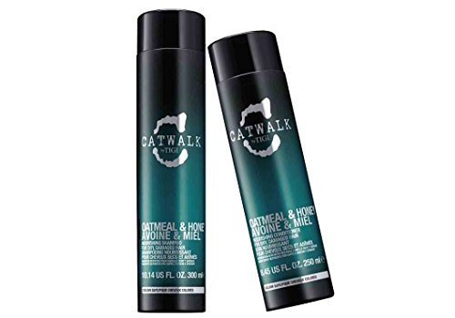 (Tigi Catwalk Oatmeal & Honey Shampoo (Size 10.14 oz) and Conditioner (Size 8.45 oz) Duo pack)