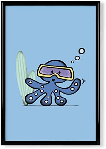 Bild kinderposter kinderzimmer Poster artboxONE Poster 30x20 cm F/ür Kinder Tintenfisch f/ürs Kinderzimmer