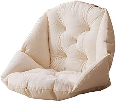 Peluche suave carcasa silla cojín asiento silla de comedor de jardín, Pad oficina cintura apoyo, beige, 5 concaves
