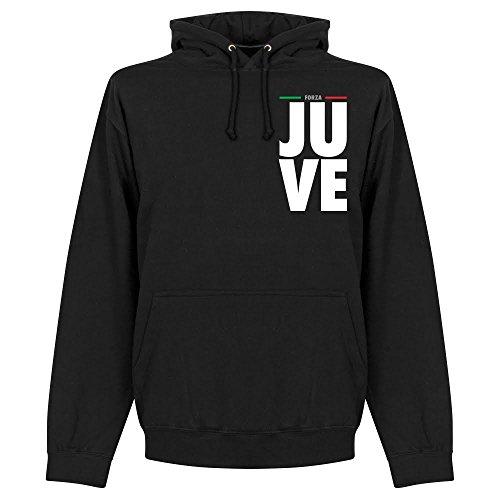 Forza Juve Felpa con cappuccio, colore: nero