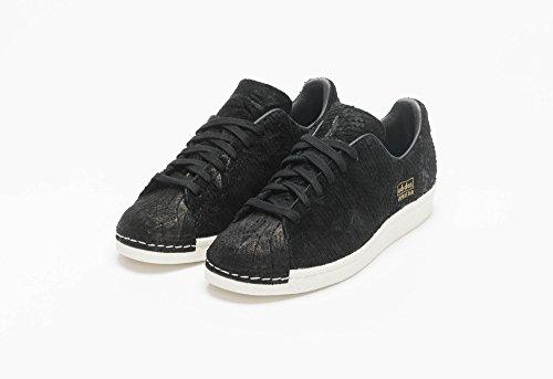 adidas Superstar 80's Clean Mens In Black/Black, 12