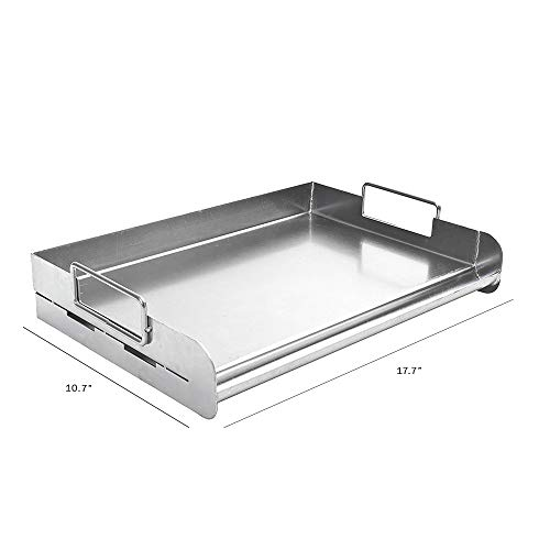Charcoal Companion CC3500 Stainless Steel Pro Grill Griddle