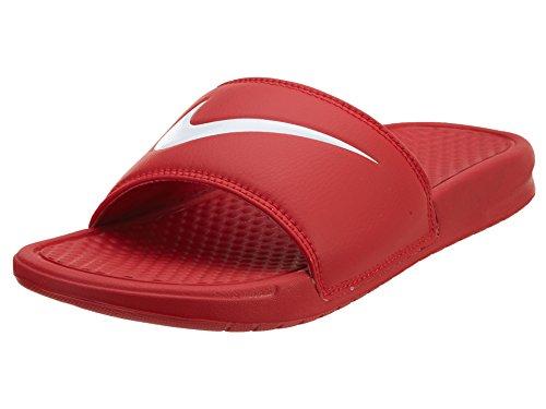 Nike Men's UniversityRed/wht House Slippers-7 UK (41 EU) (8 US) (312618-610)