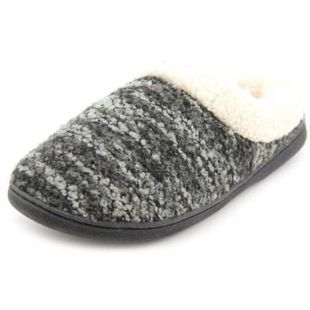 Dearfoams Multi Zwarte Womens Brei Kleurstof Klomp Memory Foam Slipper (large 9-10m)