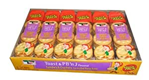 Keebler Toast and Peanut Butter and Jelly Flavored Sandwich Crackers Made with Real Peanut Butter and Jelly Flavored Twelve 1.8 Ounce packs