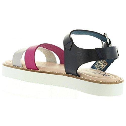 Camille Femme PGS90081 Fille 377 et Pepe Fuchsia Deep pour Sandales Jeans wqnRR07a
