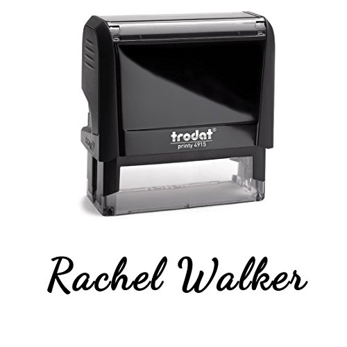 Font Black Ink - Signature Stamp, Customizable Custom Font With Personalized Name. Great Labelling Self Inking Stamp With Unique Font. Perfect For Routine Paperwork And Regular Signing Of Name. Black Ink Stamper