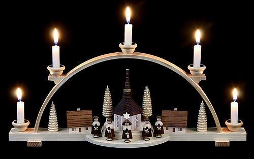 Caroler Candles (Candle Arch - Carolers - 47 cm / 19 inch - Müller Kleinkunst)