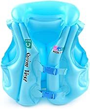 Kids Swim Vest PVC Inflatable Children's Summer Swimming Training Life Jac