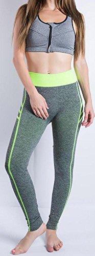 JIASHA Las mujeres absorben el sudor Power Flex Yoga pantalones nueve pantalones 8