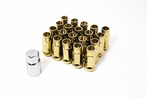 (Aodhan (Accessories) AODHAN XT51 OPEN ENDED LUG NUT (SET OF 20PC W/KEY) 14x1.5 GOLD)