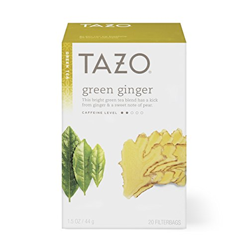 Tazo Green Ginger Green Tea Filterbags, 20 count, (Pack of ()