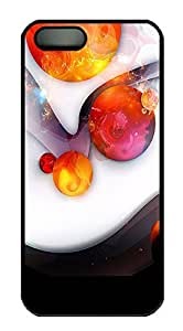 iPhone 5 5S Case The Amazing Abstract Red Ball PC Custom iPhone 5 5S Case Cover Black by lolosakes