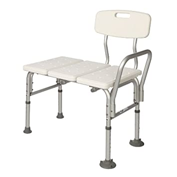 Bathtub Transfer Bench With Back / Handicap Bath Tub Chair With Adjustable Height / Bath Seat  sc 1 st  Amazon.com & Amazon.com: Bathtub Transfer Bench With Back / Handicap Bath Tub ...