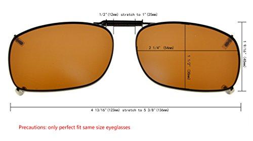 54x38MM en de lente polarizado sol Marrón gafas borde metal Eyekepper clip de Marco xPqaPS6