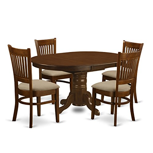 East West Furniture KEVA5-ESP-C 5 Piece Set Kenley Kitchen Table with One 18