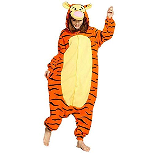 SHELY Unisex Adult Pajamas Plush Onepiece Cosplay Animal Costume (XL for Height(69