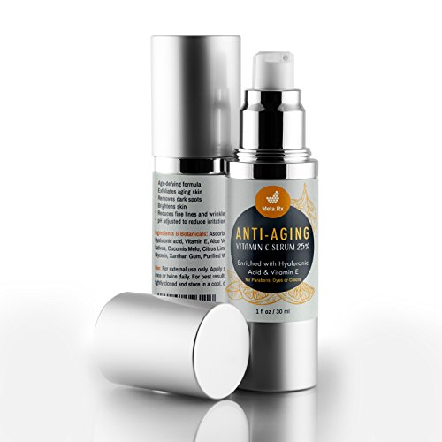 Vitamin C Organic Super Serum Skincare - For the best, timeless, natural facial beauty - by Meta Rx Pharmacy Services