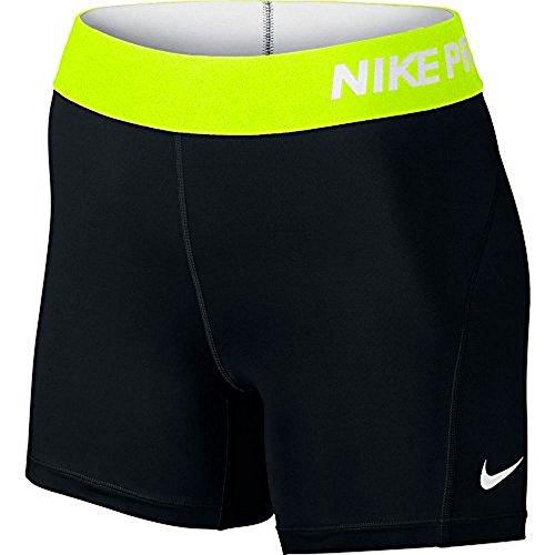 """Nike Pro Cool Classic 5"""" Short (XS x 5, BLACK/VOLT/WHITE)"""