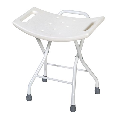 Folding Bath and Shower Safety Seat Stool with Steel Frame from SUPPORT PLUS