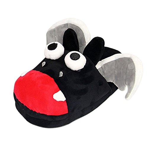 Genda 2Archer Women Men Kids Winter House Shoes Cartoon Plush Slipper- Bat (Slippers Pink Bat)