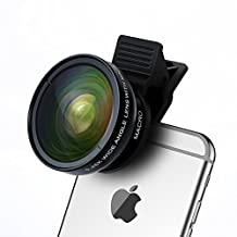 Cell Phone Camera Lens - TURATA 2 in 1 Professional HD Camera Lens Kit 0.45X Super Wide Angle & 12.5X Macro Lens Made for iPhone, Samsung & Most Smartphone, Tablet