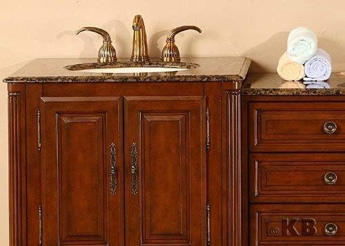 76 Double Sink Bathroom Furniture Vanity Cabinet With Baltic Brown Granite Top 207 Amazon Com