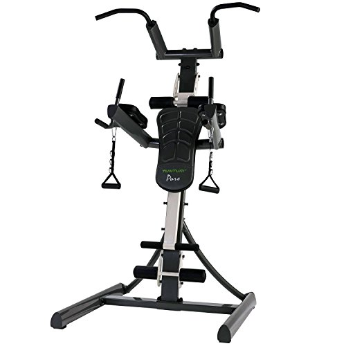 Tunturi Pure Power Tower Home Gym with Adjustable Dip Station & Suspension...