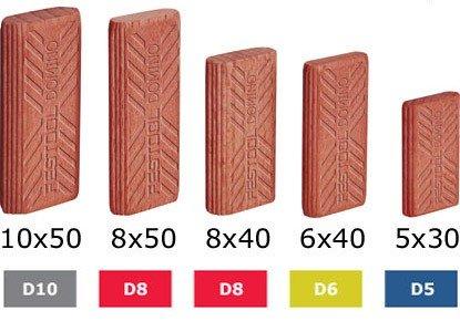 494863, Festool Domino Sipo Tenons 10x24x50, 255 (Ten Tenon)