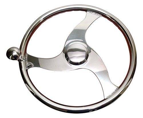 Pactrade Marine Boat Stainless Steel Steering Wheel With ...