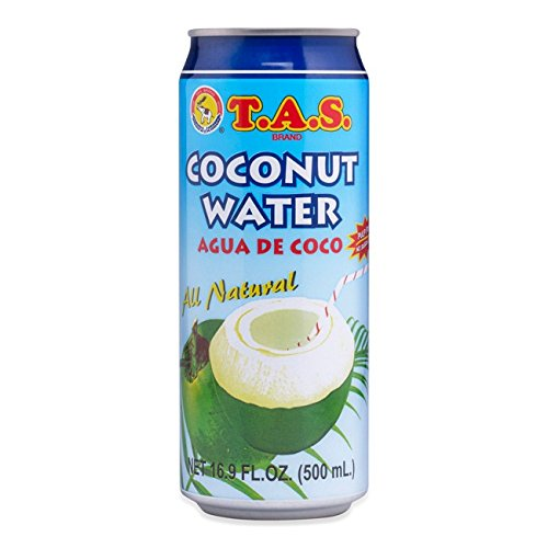 TAS Brand Coconut Water, Large, 16.9-Ounce (Pack of 24)