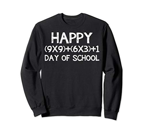 Sweatshirt School Teacher Adult - Math Formula 100 Days Of School Sweatshirt Teacher Gift