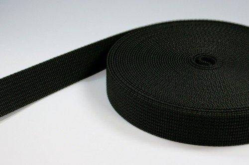 UV 10m PP Gurtband 50mm breit 1,8mm stark schwarz
